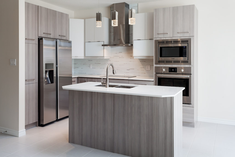 This Clean Tri Textured Kitchen Creates A Stream Lined Space That Offers  Plenty Of Storage With A Contemporary Look.